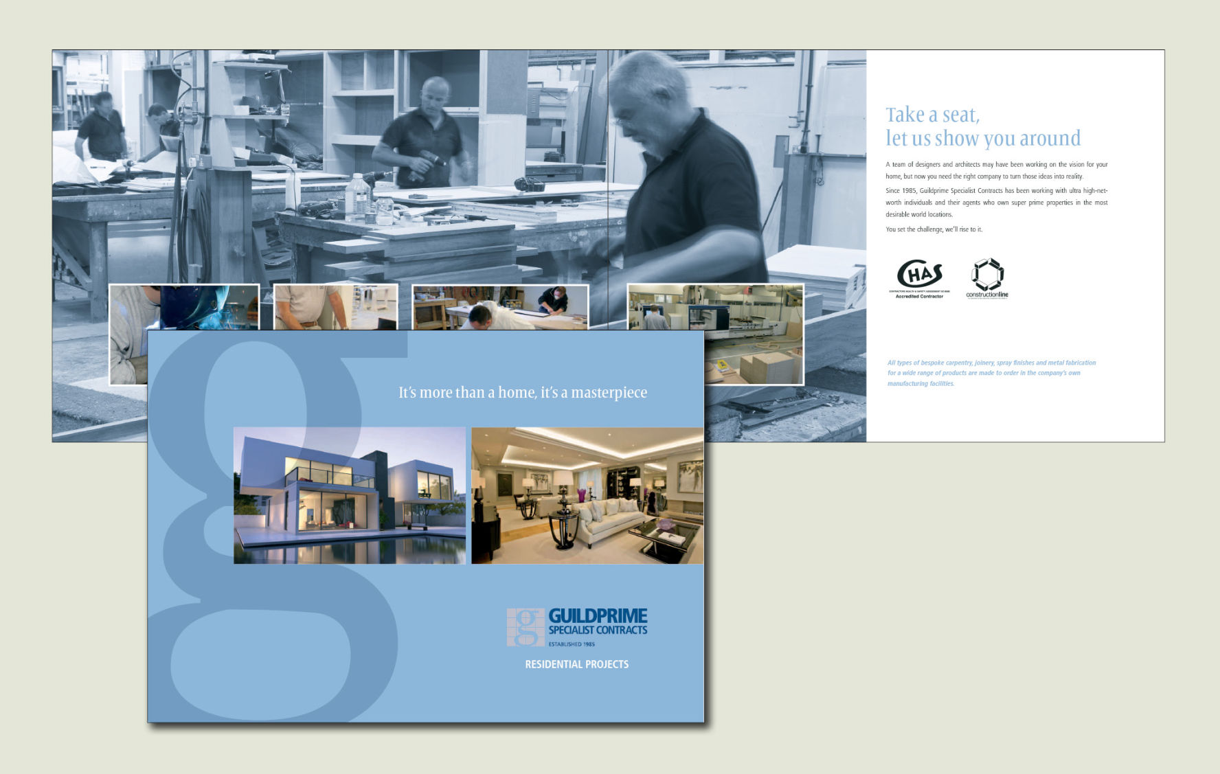 Brochure Design for Residential fit out contractor